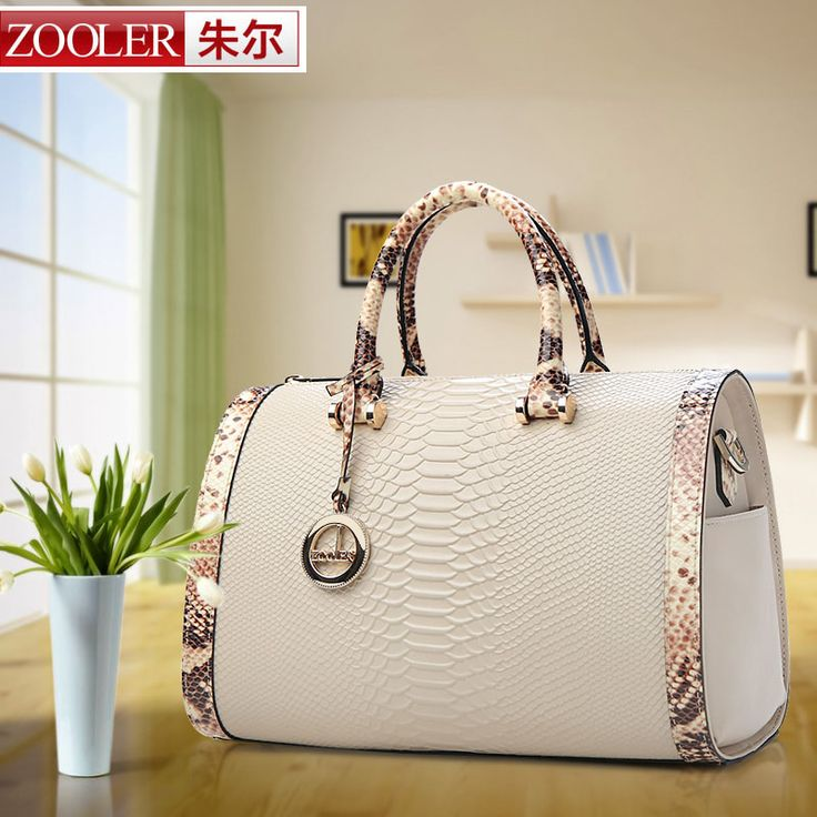 ZOOLER bags handbags women famous brands shoulder messenger bags genuine leather handbags Boston pillow Serpentine grain bag
