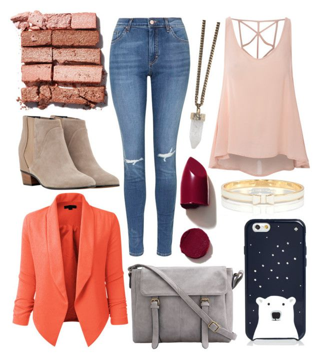 """""""Untitled #186"""" by badknow on Polyvore featuring Glamorous, Topshop, Golden Goose, Kate Spade, LE3NO, NARS Cosmetics, Givenchy and Bobbi Brown Cosmetics"""