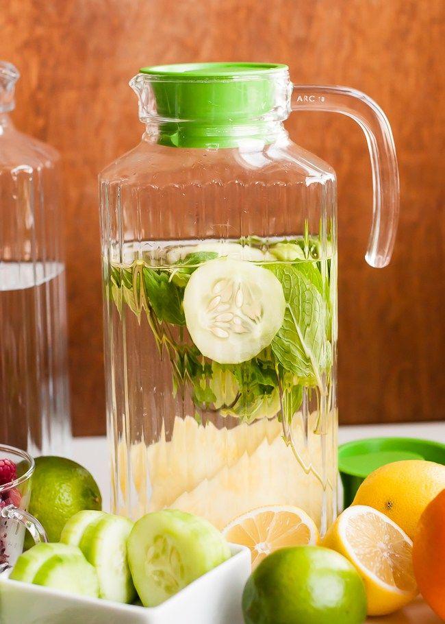 Cucumber Lemon Mint Infused Water | HelloGlow.co