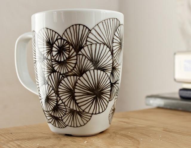 Må finde tusch og kop frem. Elsker udtrykket i mønsteret!