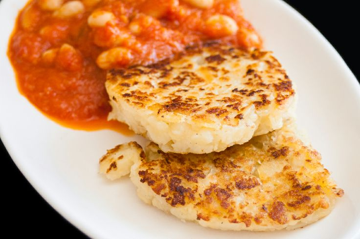 Hash Browns (with homemade baked cannellini beans).