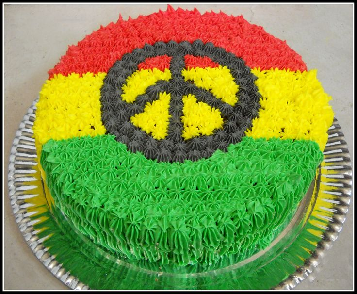 Rasta Cake for my baby's birthday next month. But a weed leaf and some joints on it