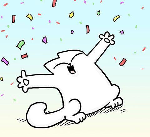 День, саймон кот открытка