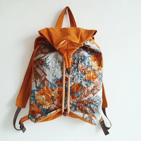 Fox backpack, design backpack, veagn bag, fox bag,vegan backpack,eco,school backpack,schoolBAG,oryginal exclusive,gifts,backpackFORwomen