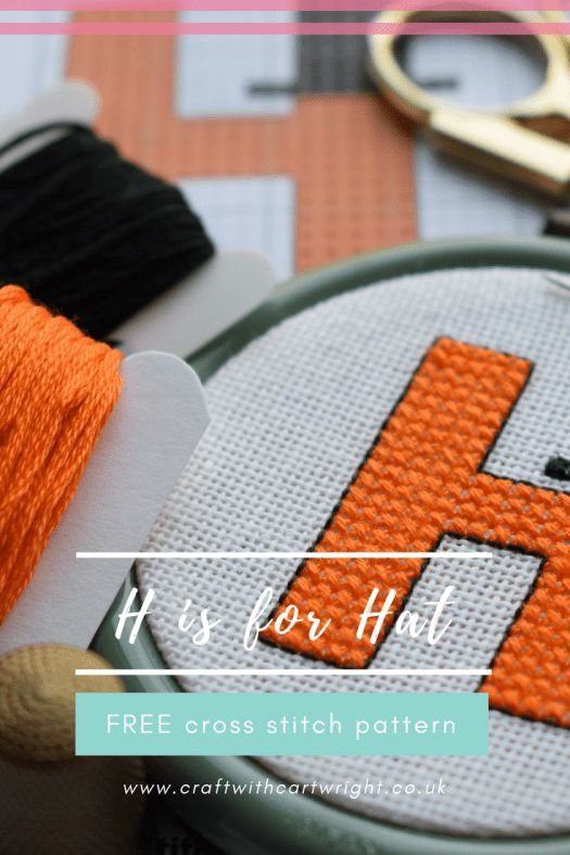 Continuing my alphabet pattern series. Here is H is for Hat.  I love the combination of orange and black. I think it looks really striking. Isn't is cute how the  H is wearing the top hat?
