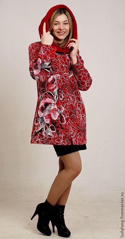 """Верхняя одежда ручной работы. Ярмарка Мастеров - ручная работа Полупальто """"Весна красна"""". Handmade."""