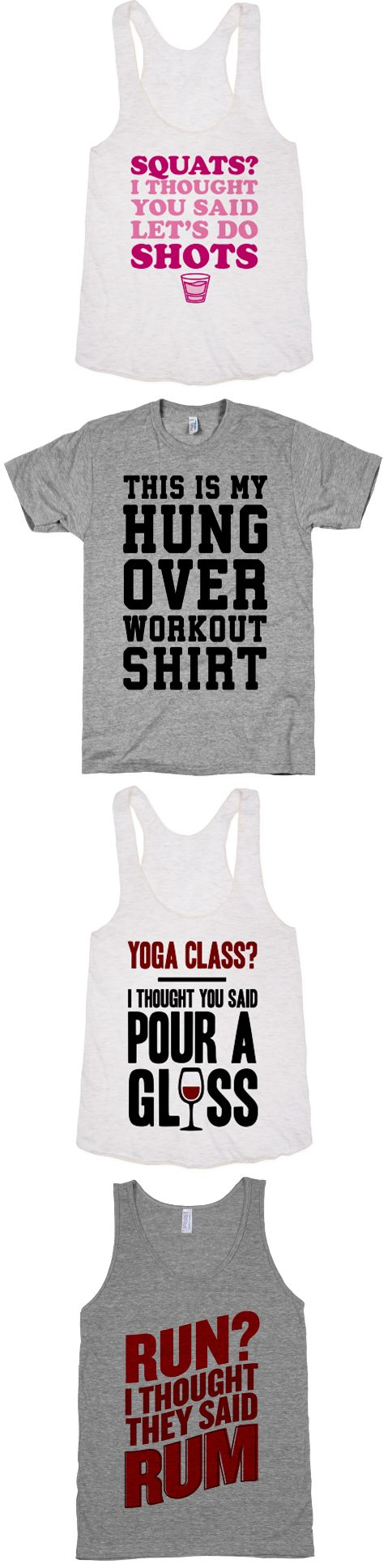 Gym fashion for the days when you would rather be drinking. If you work out to make room for your wine habit, we've got the shirt for you. Explore our whole collection of boozy tees and tanks at Activate Apparel.