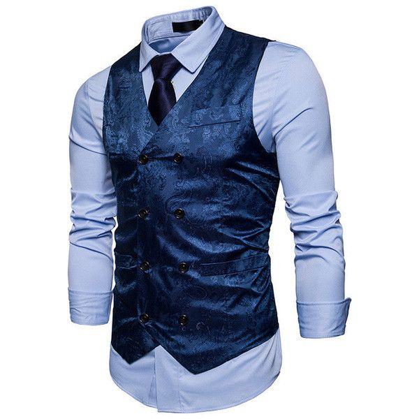 Wholesale Cheap Vests Gender Vogue Men Smart Casual Business Vests Male Work Dobby Jacquard Suit Vest Jacke Jackets Men Fashion Mens Vest Fashion Mens Outfits