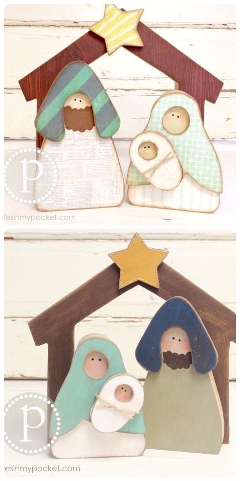 Easy Christmas Woodcrafts pebblesinmypocket.com
