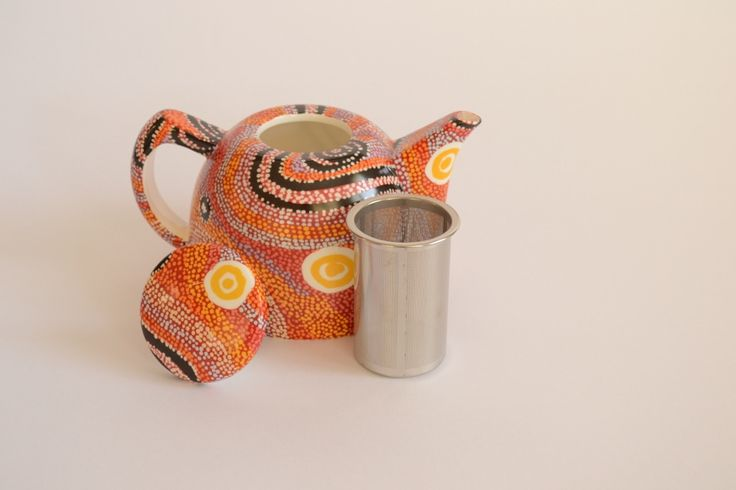 #Australian # Aboriginal #art #teapot made from fine china  Warlukurlangu design Aboriginal owned and governed art centre see script in next photo