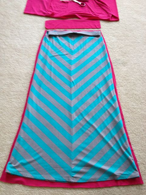 Sewing: Maxi Skirt A recent undertaking... Two hour sewing project! No pattern necessary :)