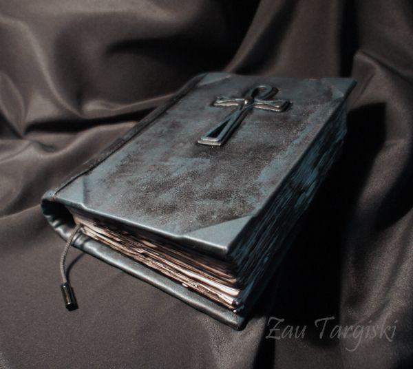 Купить Синяя книга теней с анхом и раухтопазом - тёмно-синий, анх, книга теней…