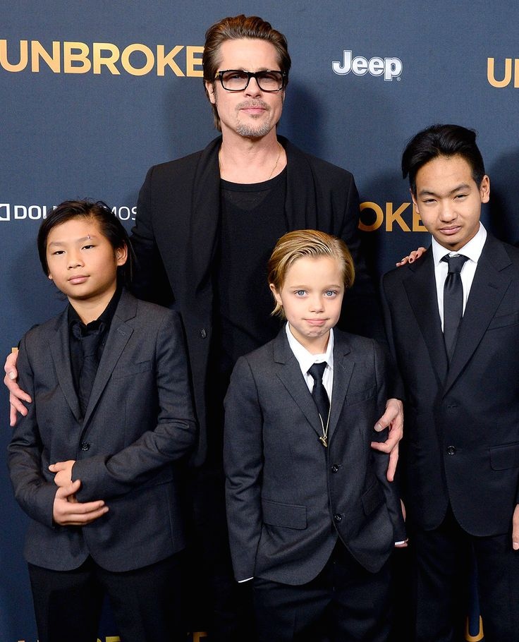Brad Pitt and sons