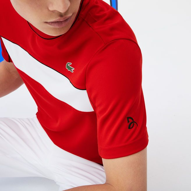 Men S Sport Pique T Shirt Novak Djokovic Collection Tee Shirt Fashion Mens Outfits Shirts