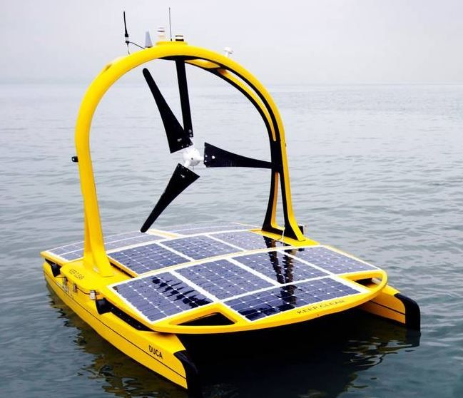 Autonomous sea vehicles with a mission. Solar/wind powered deep sea exploration