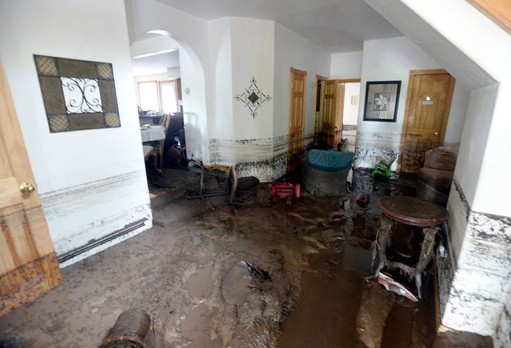 Water damage inside a home on Friday, Sept. 13, on Upland ...