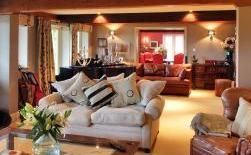 Crowbourne Grange - beautiful huge retreat room with roaring fires, candlelight & music.