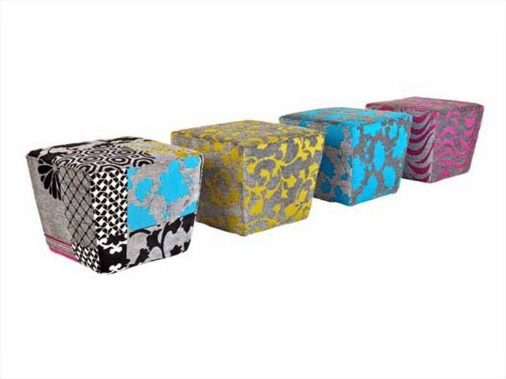 Fabric Pouf TANAGRA Les Contemporaines Collection By ROCHE BOBOIS | Design  Philippe Bouix