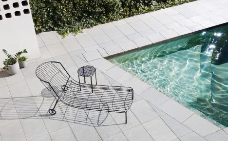 Sydney designer Trent Jansen referenced the aesthetics of Australia in the 1970s to create this sunlounger for outdoor furniture brand Tait