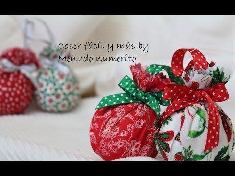 Cómo hacer adornos para el árbol con telas - DIY Christmas tree decorations - YouTube