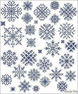 Free cross-stitch patterns, Inimitable Snowflakes, snowflake, winter, Christmas, cross-stitch, back stitch, cross-stitch scheme, free patter...
