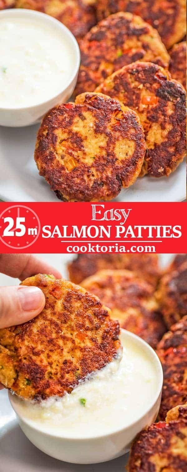 Dieses Easy Salmon Patty Rezept ist definitiv ein Hüter. Aus Dosenlachs und …