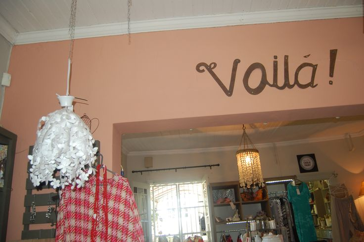Voila, 30 New Street. We stock art, decor pieces, clothing, shoes and a wonderful selection of gifts.