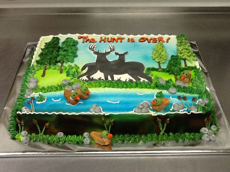 The Hunt Is Over Grooms Sheet Cake Groom S Cakes