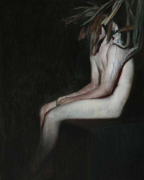 """Sitting figure"" 2010. 80 x 100 cm, oil on canvas"