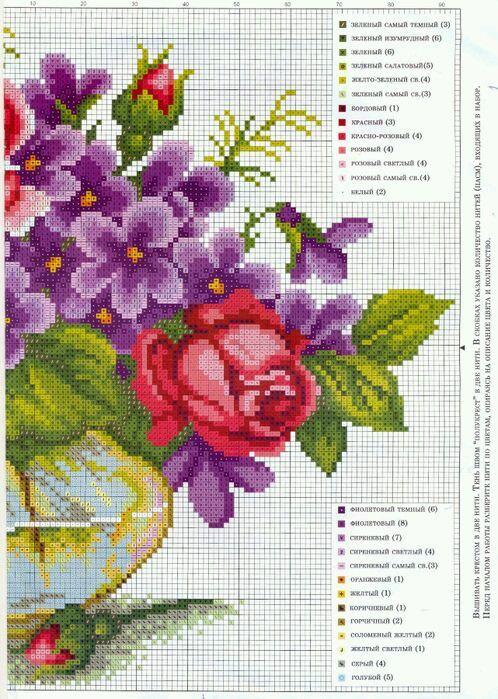 vaso+fiori+puntocroce011a.jpg (498×699)