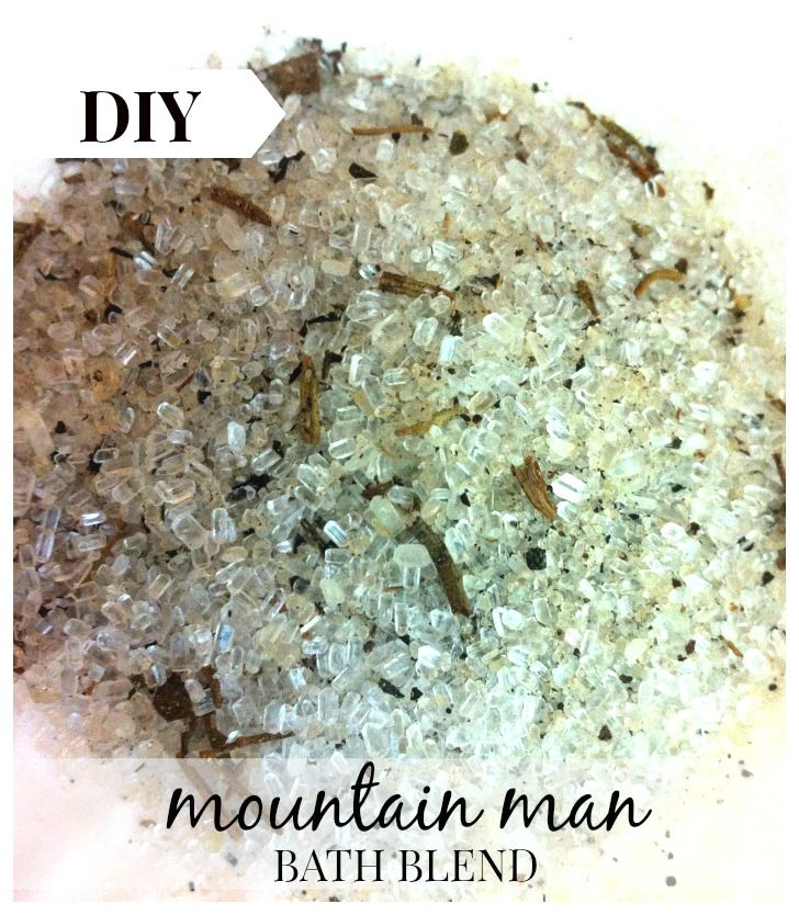 A manly blend of rustic herbs and oils. Mountain Man ~ Herbal Bath Blend -DIY