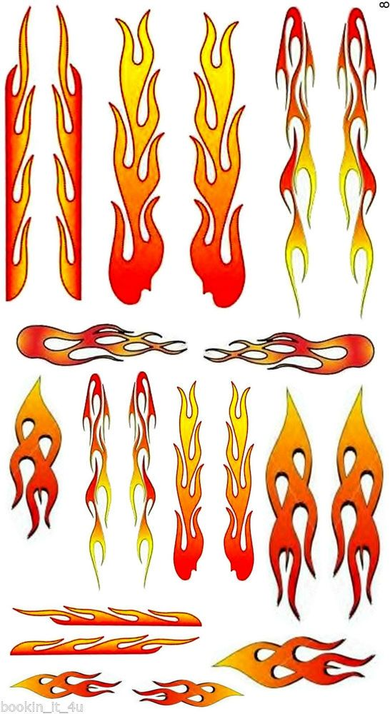 1/24 1/25 DECAL FLAME SHEET #8 FOR CUSTOM DIECAST MODEL