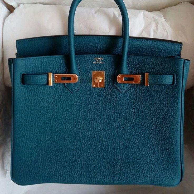 "754 Likes, 16 Comments - Privé Porter (@priveporter) on Instagram: ""Hermès 25cm Birkin | Bleu Cobalt Togo Leather | Gold Hardware | X (2016)  For price and purchase…"""
