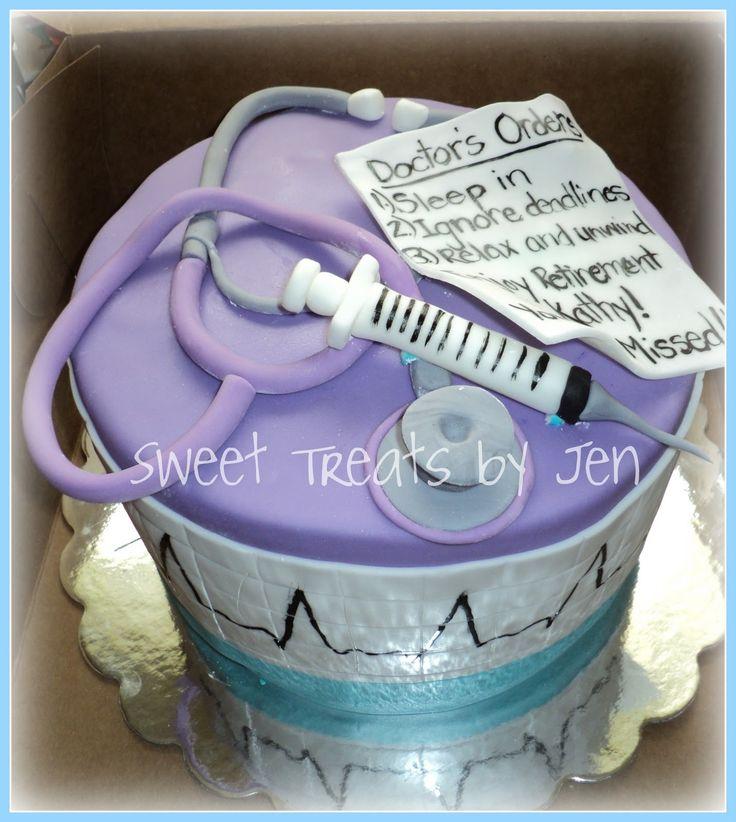 Nursing Retirement Party Cake Idea
