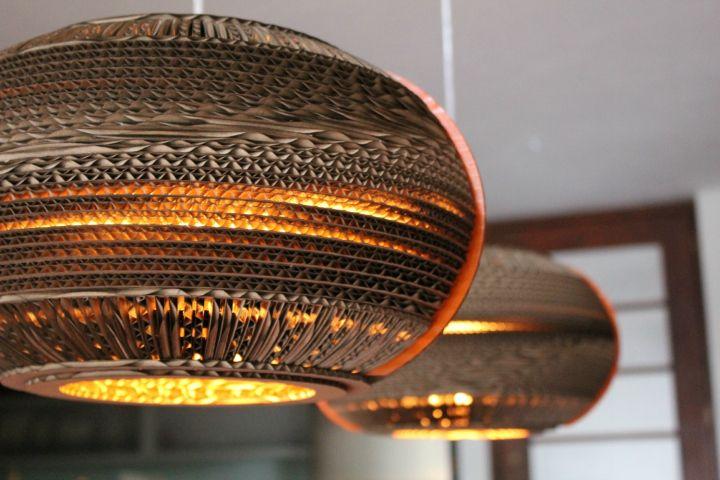 Cardboard lamps by Studio 38