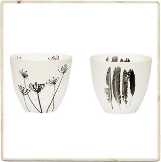 2 porcelanowe świeczniki na tealighty, Hubsch