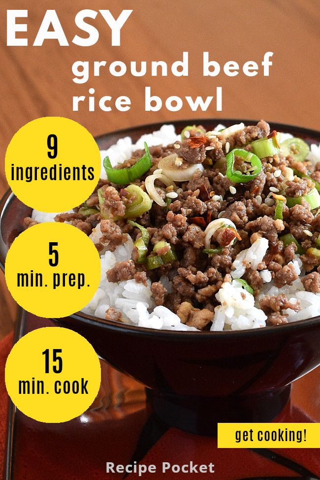 Easy Korean Ground Beef Rice Bowl On The Table In 20 Min Recipe In 2020 Beef And Rice Ground Beef Rice Beef Rice Bowl Recipe