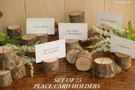 wooden place card holders -- too kitschy for tables?