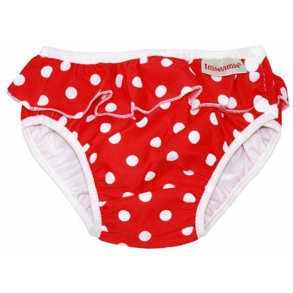 #Costume da #bagno #contenitivo per #bambini e #neonati- rosso a pois