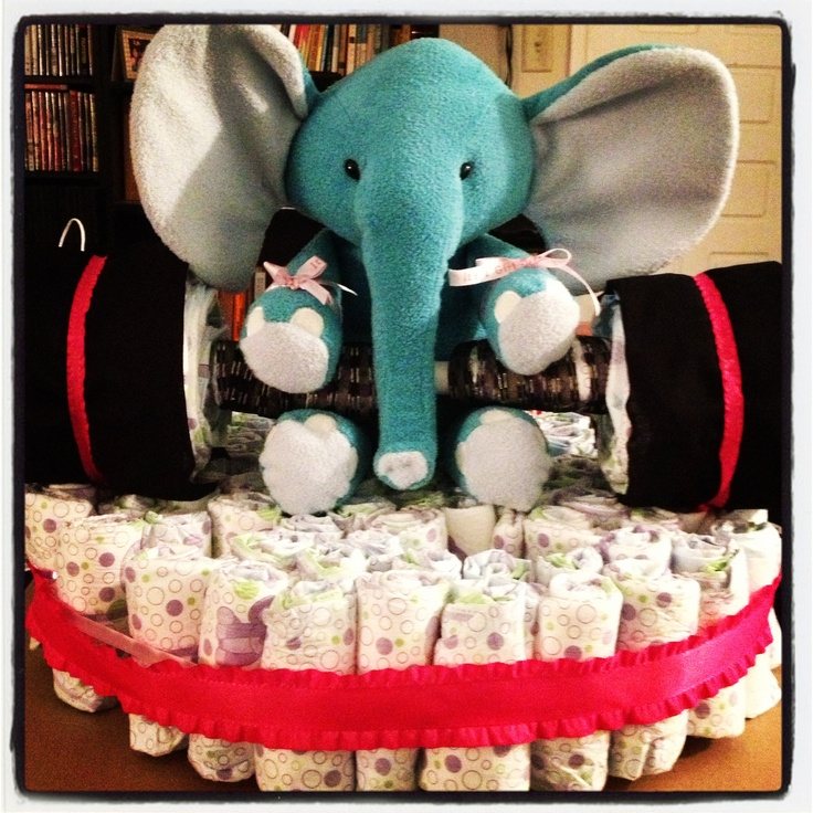 Crossfit diaper cake I made for my coach and his wife!