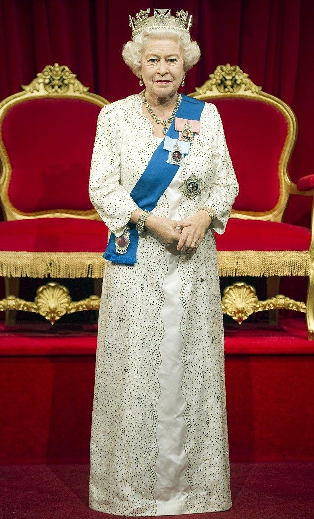 HRH Elizabeth II's Diamond Jubilee Wax Statue at Madame Tussaud's.  It is her 23rd likeness put on display at the wax museum.