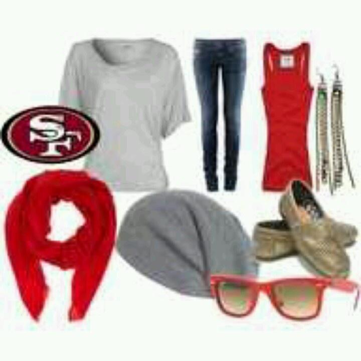 49er outfit for super bowl!