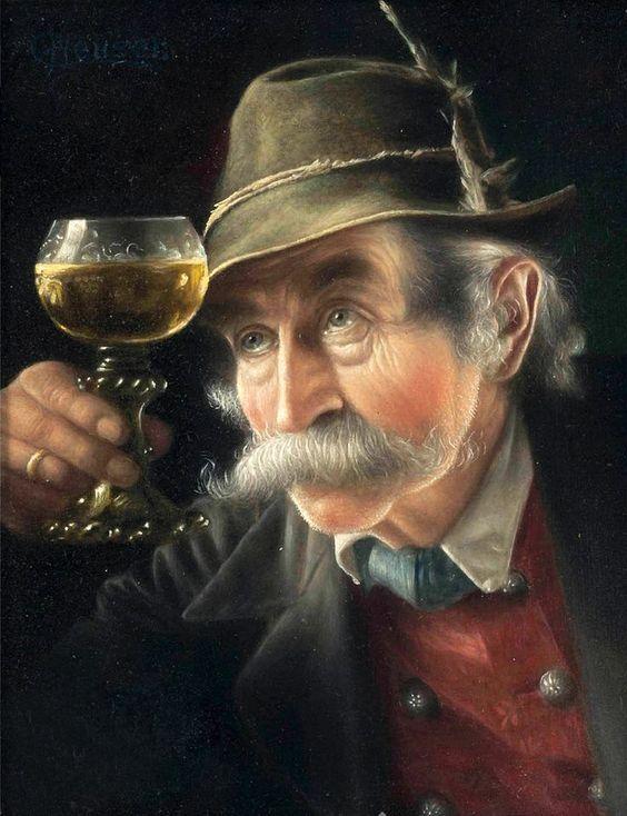 Anciano bebedor por Carl Heuser: