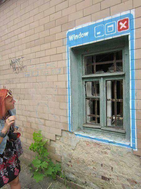 Internet nous ouvre grand la fenêtre sur le monde. / Street art.