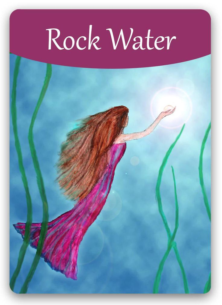 "Bach Flower Cards [Rock Water] - The Rock Water personality desperately wants to ""be good,"" and has lost touch with the fact that everyone makes mistakes. He also wants to achieve spiritual development externally, rather than by connecting with his own Higher Self to guide him. After treatment, this personality is able to examine and consider new insights and theories. He will look inside to find answers, but now with guidance from his Higher Self."