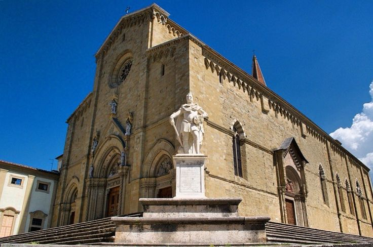 The Saint Donato Cathedral in Arezzo. A sandstone gothic structure that dates back to XIII century