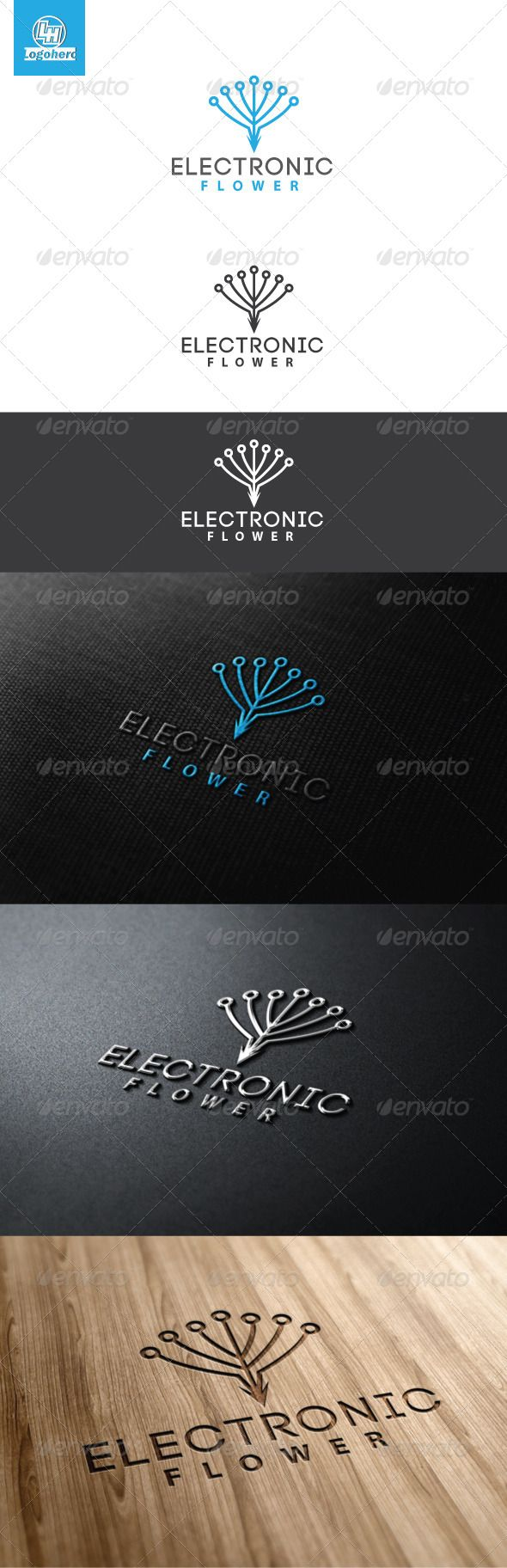 Electronic Flower Logo Template #GraphicRiver Electronic Flower Logo Template is An excellent logo template highly suitable for web, blog, mascot, creative studio, design agencies, programmers, web developers, applications, software, IT, Computer These files consists of resizable vector format files like AI, EPS , and PDF . Also PSD format for raster version alternative. font used Code Created: 29April13 GraphicsFilesIncluded: PhotoshopPSD #VectorEPS #AIIllustrator Layered: Yes…