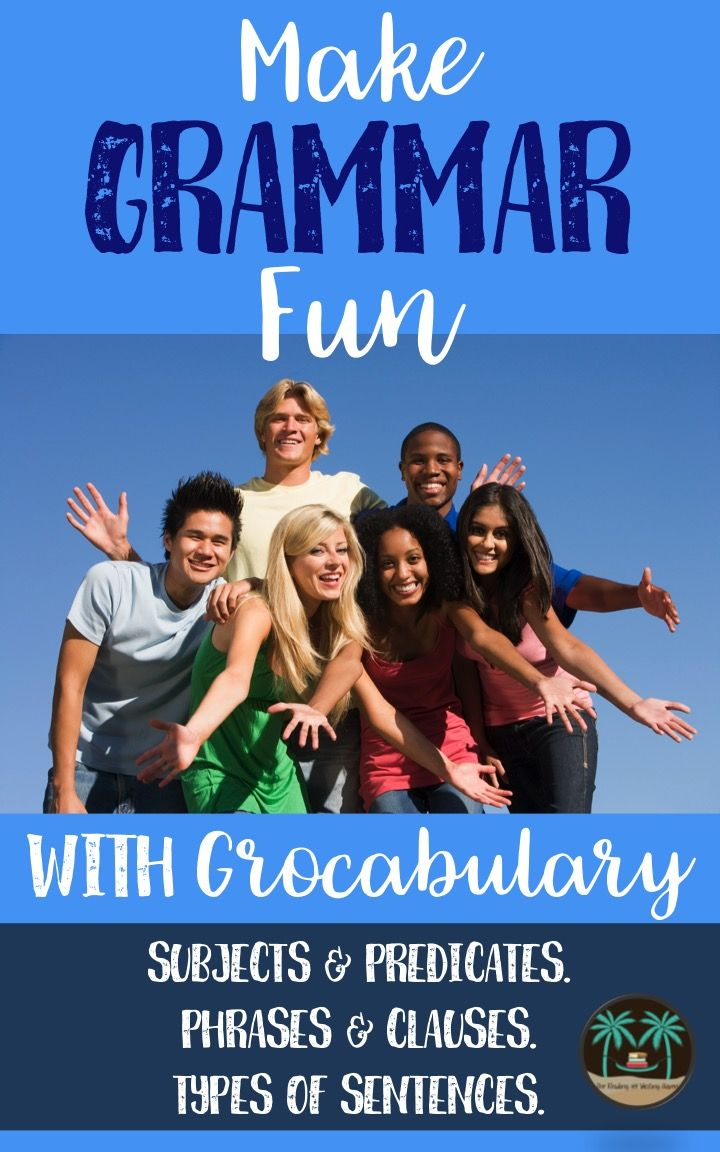 Grocabulary exercises combine grammar practice with funny vocabulary words which get students thinking about using context clues to determine unfamiliar word meanings. The result? Laughter, engagement, and grammar practice!