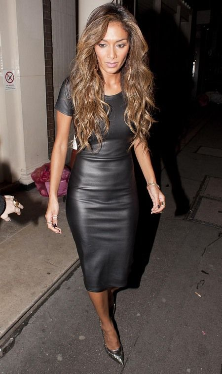 Nicole Scherzinger S Missguided Leather Dress Www Handbag