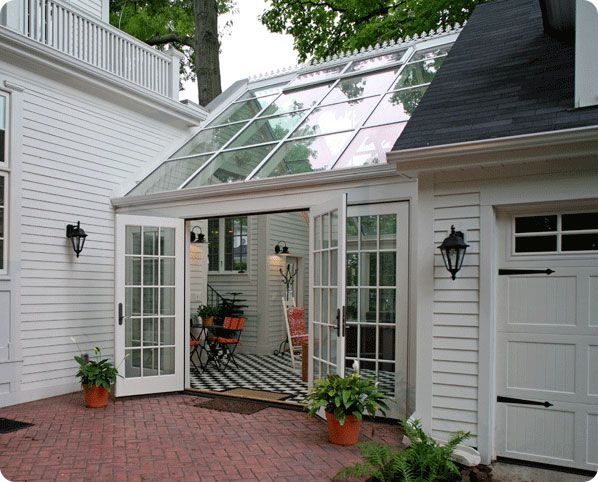 Best 25 breezeway ideas on pinterest covered walkway for Detached room addition
